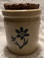 4.5 Inch Crock With Cork Stopper, Made In England By Moria Pottery