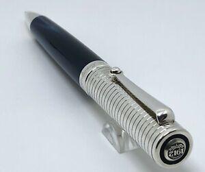 Montegrappa Espressione Blue Resin Sterling Silver Trim Ballpoint Pen