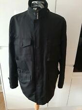 Balestrino Belstaff Style Jacket Size Large 22 Pit  to Pit Water Resistant Black