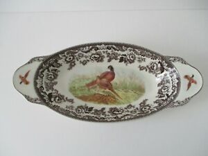 SPODE WOODLAND HUNTING PHEASANT BREAD TRAY SERVING BOWL New With Tag