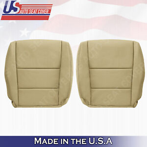 FITS 2008 to 2012 Honda Accord Driver Passenger Tan &  Black Leather Seat Cover