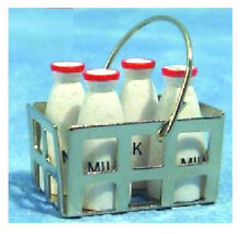 Dolls' House 1:12 Scale Milk Bottles & Crate SA-D050 12th Scale Accessories