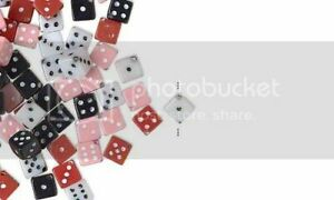 10 Plastic Acrylic 5mm Square Game Dice Beads with Number Dots True to Life