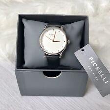 Reloj Pulsera Fiorelli moderno Negro Plata Análogo De Oro Rosa 32 mm hebilla de cara