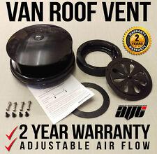 BLACK Universal Plastic Rotary Van Roof Air Vent - For Nissan / Renault Vans