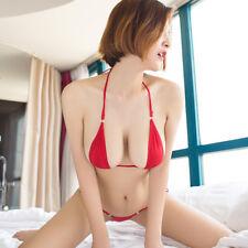 Red Sexy G-String Bikini Set Bra Thong Lingerie Bathing Suit Swimwear Swimsuit