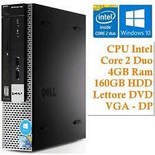 Mini PC Computer Fisso Desktop USFF Dell Optiplex 780 Windows 10 PRO 160GB