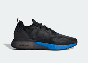 adidas Originals ZX 2K Boost Shoes in Black and Blue