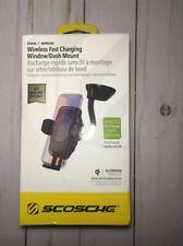 SCOSCHE Wireless QI Fast Charging Universal  Window/Dash Mount - Black **NEW**