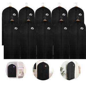 1-10x Kleidersack Anzug Tasche Schutzhülle Kleiderschutz Kleiderhülle Anzugsack