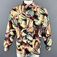 PAUL SMITH Size XL Print Multi-Color Cotton Button Up Long Sleeve Shirt