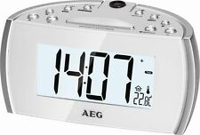 LUXUS AEG DIGITAL RADIO WECKER UHRENRADIO PROJEKTIONS WECKER ALARM 53321123