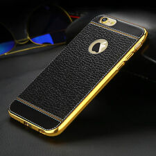 For iPhone XS MAX XR 6 7 8 Plus Luxury Ultra-thin PU Leather Soft TPU Case Cover