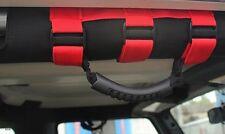 Red Roll Bar Grab Handles Fits Jeep Wrangler YJ TJ JK RollBar Handle - Pair