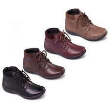 LADIES PADDERS JOURNEY WATERPROOF LACEUP EXTRA WIDE LEATHER 2E/3E ANKLE BOOTS