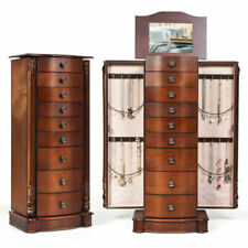 Giantex HB93505 Wooden Jewelry Cabinet Armoire