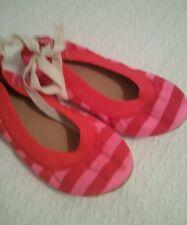 J Crew mila ballet flats #21916 SIZE K9 NWOB Red / Pink Medium girls slip on