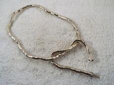 Silvertone Cobra Snake Bendable Necklace (C67)
