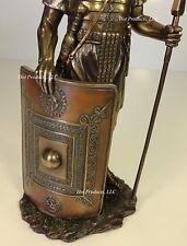 ANCIENT TIMES ROMAN LEGION SOLDIER JAVELIN SHIELD Sculpture Statue Bronze Finish