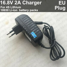 AC/DC 16.8V 2A 2000mA Lithium Batterie BMS Li-ion 18650 LiPo 4S charger adapter