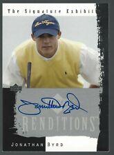 Jonathan Byrd 2003 Upper Deck Renditions Signature Exhibit Card# JB