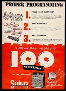 1950 Seeburg model A M100A jukebox & wallbox photo vintage trade print ad 9