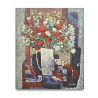 NY Art - Fiesta Floral Arrangement in Vase 20x24 Original Oil Painting -On Sale!