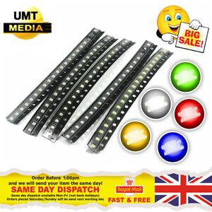 SMD/SMT LED's - 0402, 0603, 0805, 1206 - Red, Blue, Green, White, Orange, Yellow