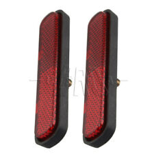 Pair Red License Plate Reflector Universal For Motorcycles Atv Bikes Dirt Bikes