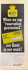 Vintage 1968 Best Western Motels Our Bond Is Our Word Print Ad Advertisement