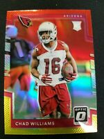 CHAD WILLIAMS 2017 DONRUSS OPTIC ROOKIE RC RED & YELLOW PRIZM HOLO #114 CARDINAL