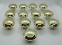 Vintage Lot of 13 Amerock Polished Brass Knobs Drawer Pulls Handles 63757-1