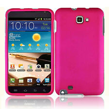 PINK RUBBERIZED HARD CASE COVER FOR SAMSUNG GALAXY NOTE i717 T879 N7000 i9220