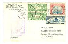 1930 FAM 9-50 MIAMI TO URUGUAY PANAM FLIGHT 1930 COVER WORLD CUP FOOTBALL SOCCER