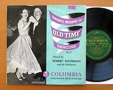 """Melodías favoritas de tiempo antiguo bailando 2 Harry Davidson Columbia 10"""" 33S 1080"""