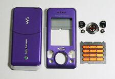 Purple Housing Fascia facia cover faceplate for Sony Ericsson W580 W580i case