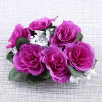 10 Colors Candle Rings Silk Wedding Party Decer Handmade Flower Rose Gifts Top