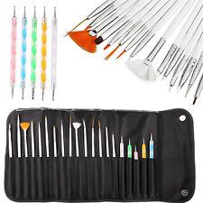 20 Stk Pinsel NailArt Pinsel Set Art Nagelart Maniküre Gelpinsel & Dotting Tool