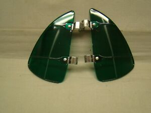 vintage style Green plastic transparent Breezies wing window air wind deflector