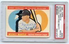 New listing MICKEY MANTLE VINTAGE Signed 1960 Topps All-Star Hi #563  Yankees HOF PSA/DNA