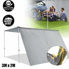 3m X 2m Car Side Awning Extension Roof Rack Top Tents Side Shade Camping 4x4 4wd
