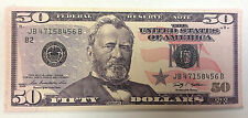 50.00 WHOLESALE DEAL 12 PIECES THE NEWEST FIFTY DOLLAR BILL WALLET BIFOLD CANVAS