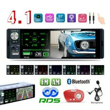 Bluetooth 1DIN Autoradio radio de coche MP3 manos libres car RDS USB TF Colorido
