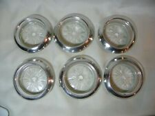 New listing Art Deco Frank M. Whiting Co. Sterling/ Glass coasters SIX pieces o4
