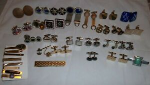 Vintage Cuff Links Tie Pins & Tie Clasps Swank & More Large lot!!