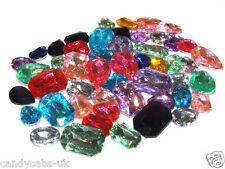 Candycabsuk 100 Multi Cristal Facetado Bling 3D no Flatback Gemas Pedrería Mix