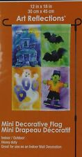 Halloween Frankenstein Haunted House Boo Bats Mini Decorative Flag 12x18 NIP