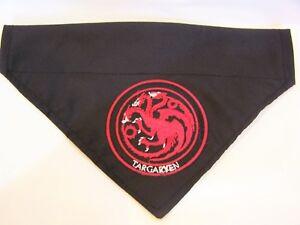 Game of thrones inspired Targaryen dragon dog bandana
