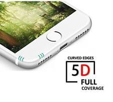 5D Completo Protector de Pantalla de Vidrio Templado para Apple iPhone 6 Plus, 6s Plus Blanco