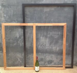 Large IKEA mdf picture frame with pine inner frame to mount a canvas